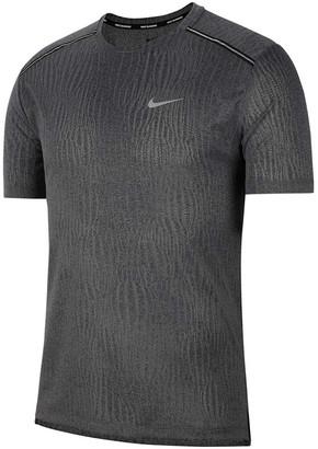 Nike Mens Dri-FIT Miler Jacquard Running Tee