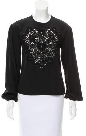 Dolce & Gabbana Embellished Silk Top