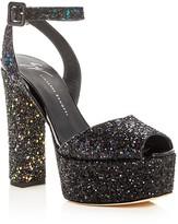 Giuseppe Zanotti Lavinia Glitter High Heel Platform Sandals