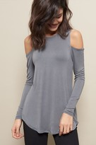 Garage Cold Shoulder Long Sleeve Tunic