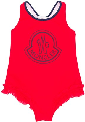 Moncler Enfant Logo Frill Trim Swimsuit