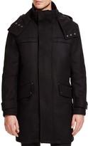 Cole Haan Hooded Wool Blend Duffle Coat