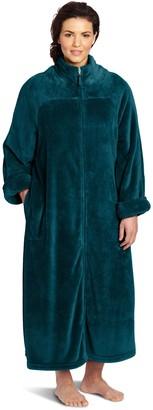Casual Moments Women's Plus-Size 52 Inch Breakaway Zip Robe