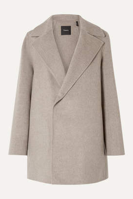 Theory Wool And Cashmere-blend Coat - Taupe