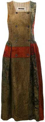 UMA WANG distressed effect textured dress