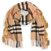 Burberry Women's Classic Check Cashmere Scarf With Tassels