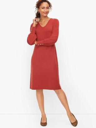 Talbots Soft Merino V-Neck Sweater Dress