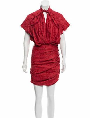 Magda Butrym Sleeveless Midi Dress Red