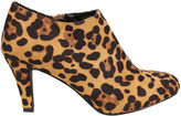 Yours Clothing Multi COMFORT INSOLE Animal Print Heeled Shoe Boot In EEE Fit