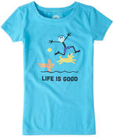 Life is Good Girls' Elemental Dock T-Shirt