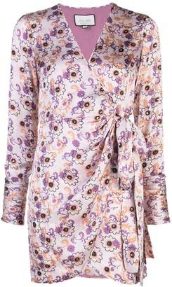Alexis Kari floral-print wrap dress