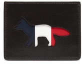 MAISON KITSUNÉ Logo cut-out leather cardholder
