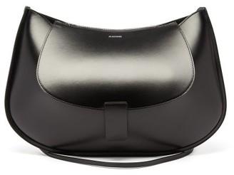 Jil Sander Crescent Large Smooth-leather Shoulder Bag - Womens - Black