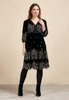P K Berry - Zola Polyester Dress - 4 - Gold/Black