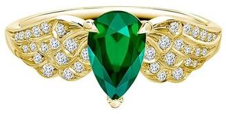 Pragnell 18kt yellow gold diamond emerald Tiara ring