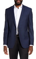 BOSS Huge Trim Fit Solid Wool Blazer