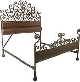 One Kings Lane Vintage Hand Forged Iron King Size Bed Frame