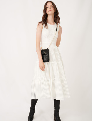 Maje Long occasion dress with fancy details