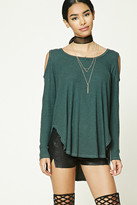Forever 21 FOREVER 21+ Ribbed Open-Shoulder Top
