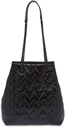Miu Miu Quilted Shiny Leather Hobo Bag