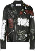 Faith Connexion Printed Leather Jacket