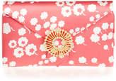 Wilbur & Gussie Charlie Pink Flower Silk Clutch Bag