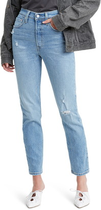 Levi's 501(R) High Waist Ripped Ankle Skinny Jeans