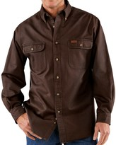 Carhartt Heavyweight Sandstone Twill Shirt (For Big Men)