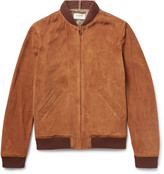 A.p.c. - Louis W Suede Bomber Jacket