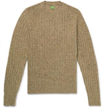 Melange Home Ribbed Shetland Wool Sweater