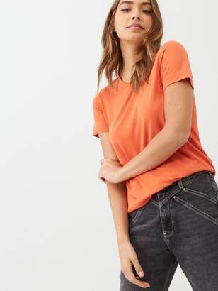 Very The Essential Crew Neck Premium T-Shirt - Orange
