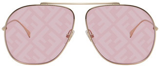 Fendi Pink FF Aviator Sunglasses