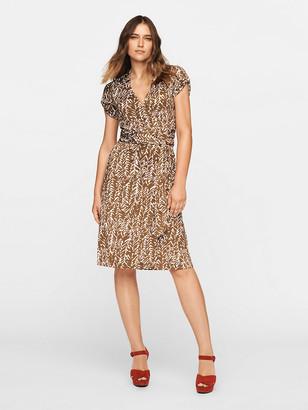 Diane von Furstenberg Tahlia Silk-Jersey Mini Wrap Dress