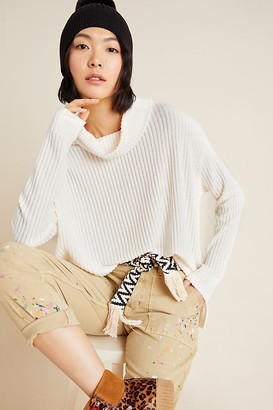 Anthropologie Vanna Cowl Neck Pullover By in Black Size XS