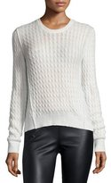 ATM Anthony Thomas Melillo Cable-Knit Crewneck Sweater, Shell