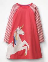 Boden Big Applique Jersey Dress