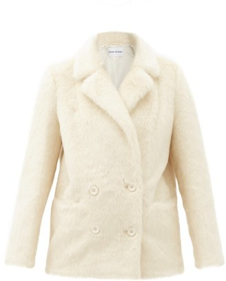 Stand Studio Annabelle Double-breasted Faux-fur Jacket - Ivory