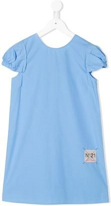No.21 Kids bow detail logo dress