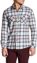 Quiksilver Collared Long Sleeve Plaid Modern Fit Shirt