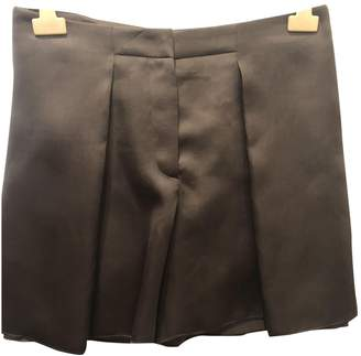 Brunello Cucinelli Brown Silk Shorts