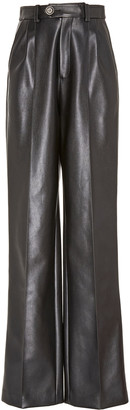 Peter Do Leather Wide-Leg Pants