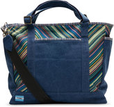 Toms Navy Stripe Canvas baby tote bag