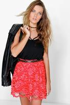 Boohoo Royah Full Lace Skater Skirt