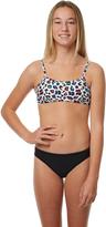 Jets Kids Girls Leopard Crop Bikini