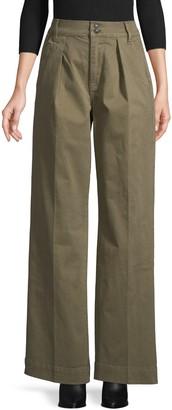 Frame Wide-Leg Stretch Pants
