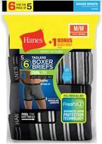 Hanes Men`s FreshIQ ComfortSoft 6-Pack Boxer Briefs, 7347Z6, L