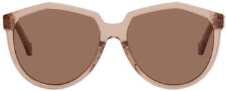 Loewe Pink Acetate Oversized Sunglasses