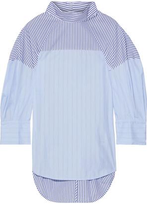 3.1 Phillip Lim Paneled Striped Cotton-blend Poplin Top