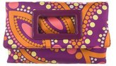Emilio Pucci Printed Fold-Over Clutch w/ Tags