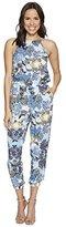 Jack by BB Dakota Women's Garnett Wandering Floral Printed Rayon Challis Jumpsuit